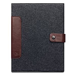 Covert 117-082-063 Cavalry Charcoal and Brown Wallet Case for Apple iPad