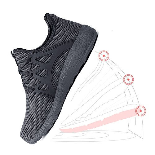 Zapatillas Unisex Malla ZOCAVIA Ligeras de Grey Transpirable para Hombre Deportivas Zapatos grey Mujer de Bggdqz