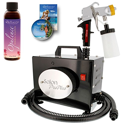 Belloccio Salon Pro Plus T200-11, 2 Stage Turbine Sunless HVLP Spray Tanning System; Free 4 oz. Belloccio Opulence Tanning Solution & DVD (Turbine Stage)