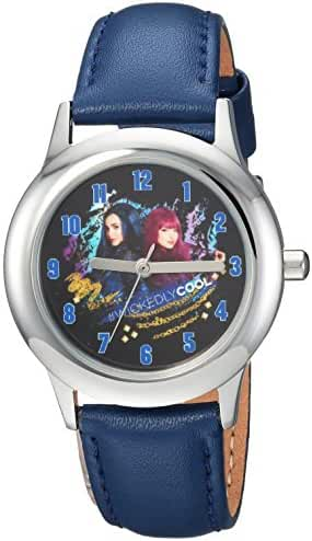 Disney Boy's 'Descendants 2' Quartz Stainless Steel Casual Watch, Color:Blue (Model: WDS000252)