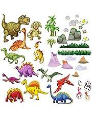BumbleBee Dinosaurs Muurstickers Peel en Stick voor Kids Slaapkamer Jongens Meisjes - 6 Vellen 20x29cm