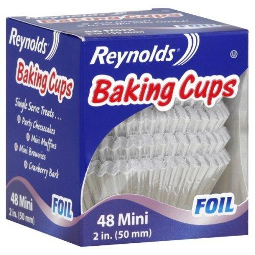 Reynolds Baking Cups, Foil Mini 2 Inch 48 Ct - 6 Packs (Reynolds Baking Cups Mini Foil 48 Count)