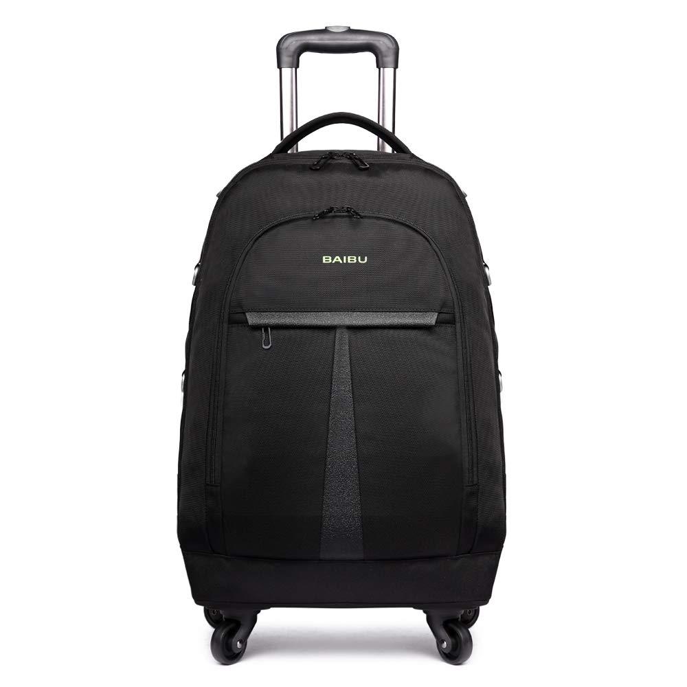 baibu 大容量 旅行用車輪付けバック 男女兼用 PCリュック バッグ 軽量 メンズ レディース 防水リュックサック 多機能のポケット 出張 旅行 通勤 通学 アウトドア適用 iPad タブレット収納 15.6インチのパソコン対応できる大きい容量   B07GFL8PXF