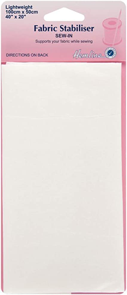 Hemline tissu Stabilisateur 100 cm x 50 cm-Tear Away H840