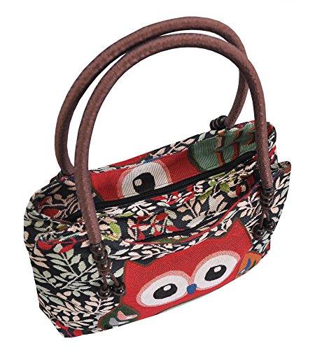 Tasche Handtasche Henkeltasche ***EULE*** Shoppertasche Schultertasche Eulenmotiv Umhängetasche - verschiedene Motive erhältlich - VINTAGE LOOK / absolut cool und stylish 42250 et6yuTyph