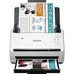 Epson WFDS570W - Escáner de Documentos en Color A4 (Capacidad de USB) Blanco y Negro
