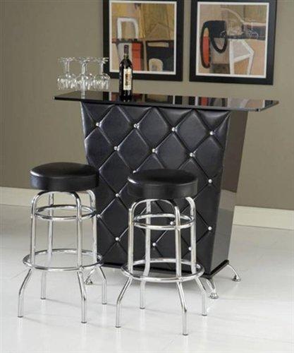 Bernards Bar Table in Black Black Home Bars