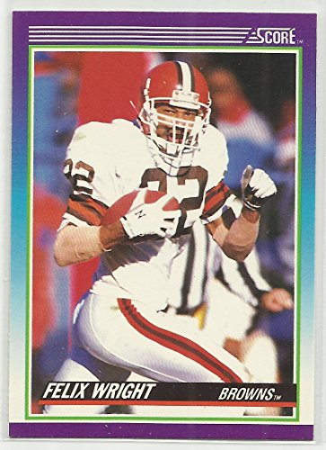 Felix Wright 1990 Score NFL Football Card #122 Cleveland Browns