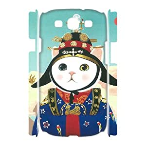 LASHAP Phone Case Of pink cute cat,Hard Case !Slim and Light weight and won't fade, Scratch proof and Water proof.Compatible with All Carriers Allows access to all buttons and ports. For Samsung Galaxy S3 I9300
