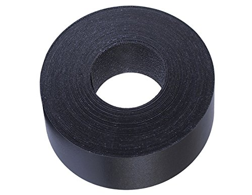 "Black Melamine Edge Banding Preglued 2"" X 25' Roll - Iron on - Hot Melt - High Quality. Made in USA."