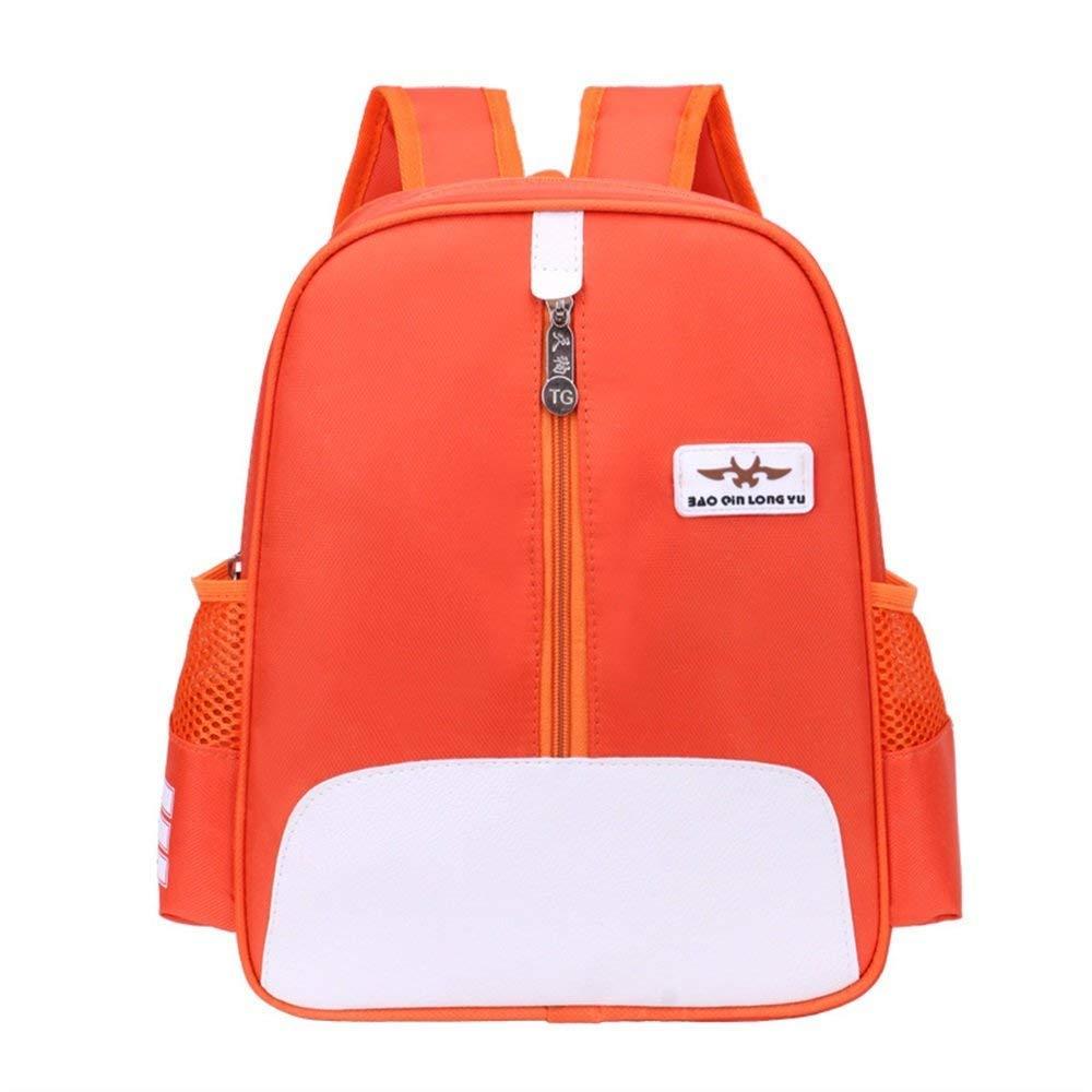 WILRND Home Persönlichkeit Rucksäcke Grundschule Schüler Rucksack Kinder Schulrucksack Casual Rucksack (Farbe   Orange)