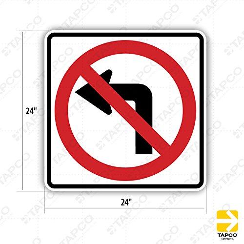 Tapco R3-2 Engineer Grade Prismatic Square Standard Traffic Sign, Legend