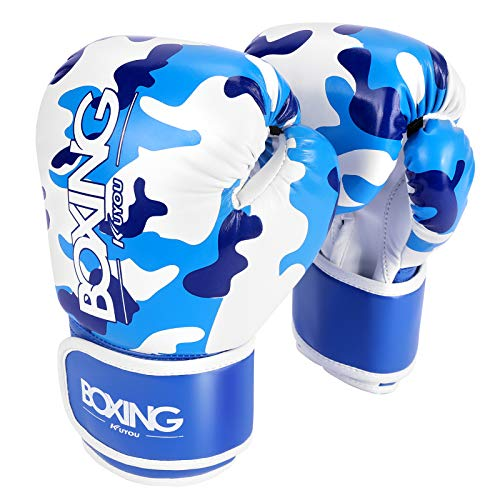 Kids Boxing Gloves, Boxing Gloves for Children 5-12 Youth Boys Girls Toddler PU Cartoon Sparring Training Boxing Gloves…