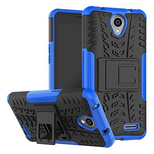 OFU®Para ZTE MAVEN 2/ZTE Z831 Smartphone, Híbrido caja de la armadura para el teléfono ZTE MAVEN 2/ZTE Z831 resistente a prueba de golpes contra la lucha de viaje accesorios esenciales del teléfono-ve azul