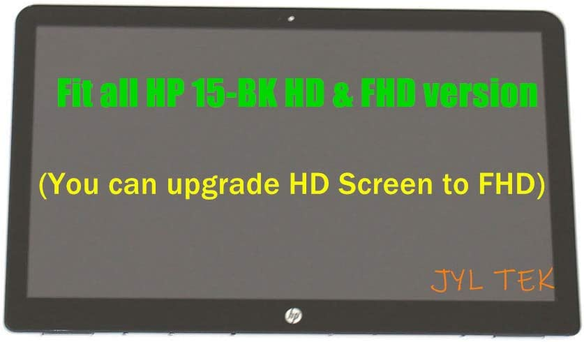 "15.6"" FHD LCD Screen LED Display + Touch Digitizer + Bezel Frame Assembly 862644-001 for HP Pavilion 15-BK 15-BK021NR 15-bk100nq 15-BK003DS 15-BK177CL 15-bk101la 15-BK163DX"
