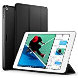 New iPad 2017 iPad 9.7 inch Case, ESR Ultra Slim Lightweight Smart Case Trifold Stand with Auto Sleep/Wake Function, Microfiber Lining, Hard Back Cover for Apple New iPad 9.7-inch,Black