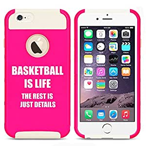 Apple iPhone 5 5s Shockproof Impact Hard Case Cover Basketball Is Life (Hot Pink-White)