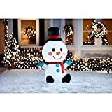 Inflatable Cute Snowman - 4ft tall - Christmas Airblown