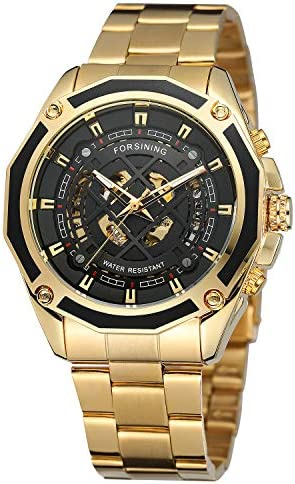 FORSINING Luxury men's skeleton watches with automatic mechanical movement