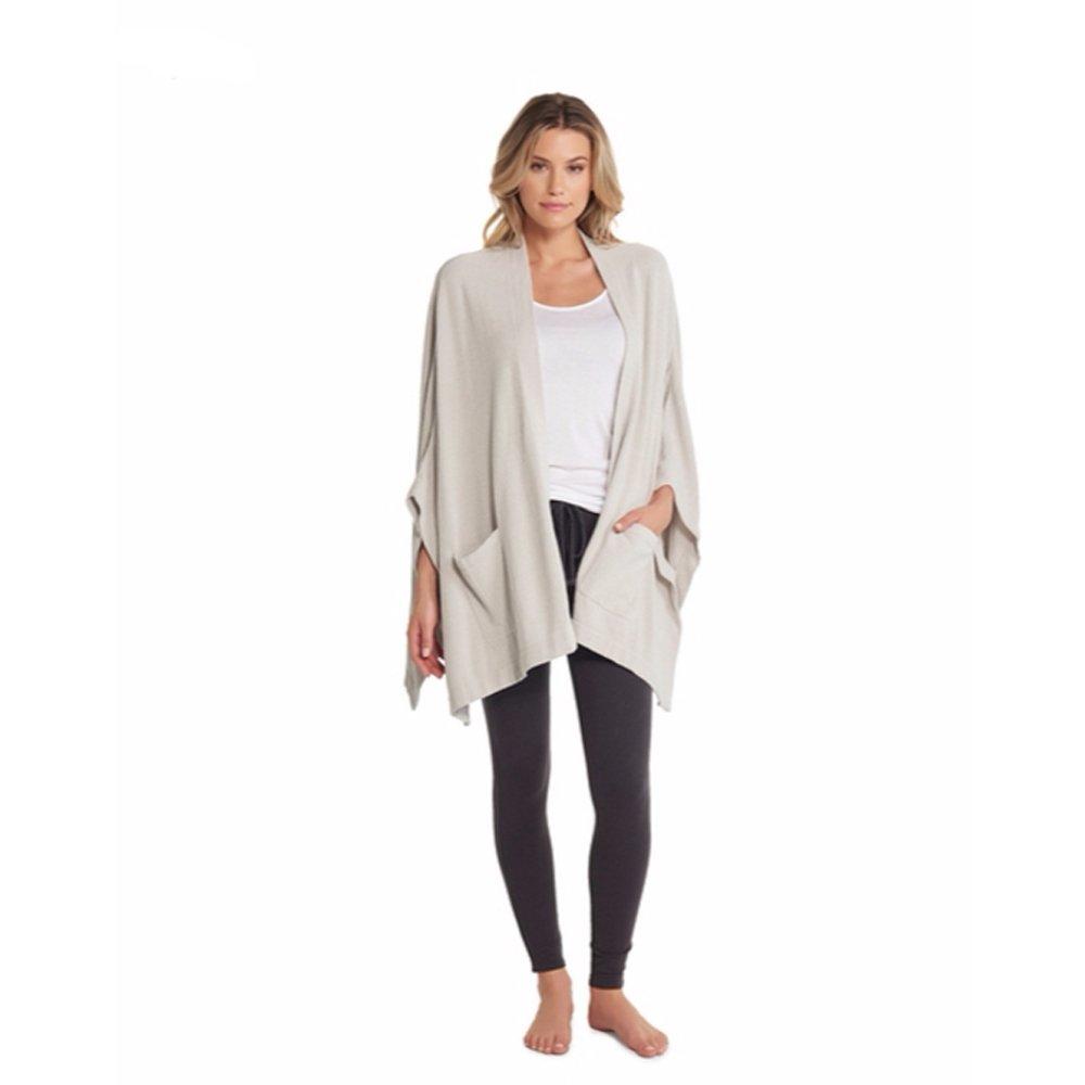 Barefoot Dreams CozyChic Ultra Lite Kimono Wrap, Fog Gray, One Size