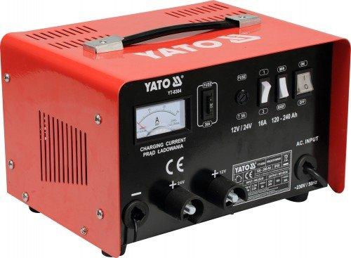 YATO YT-8304 - cargador de baterí a de 12 / 24v 25a