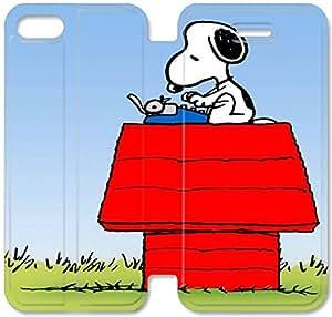 Klreng Walatina® Funda iPhone 6 6s Plus 5.5 pulgadas Funda de cuero Snoopy O1Y7Pb
