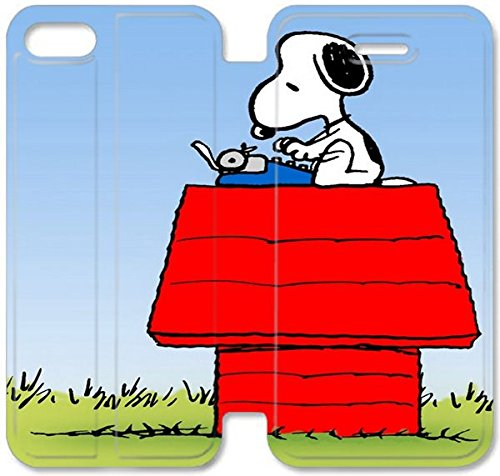 Coque iPhone 4 4S Coque en cuir, Klreng Walatina® PU Cuir de portefeuille Coque pour Coque iPhone 4 4S Design By Snoopy O1Y7Pb