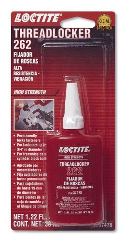Loctite 492141 262 Red High Strength Threadlocker Bottle, (Threadlocker Red 36 Ml Bottle)