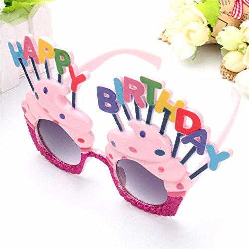 Funny Decorative Ice Cream Shaped Happy Birthday Glasses Novelty Costume Sun glasses for Birthday Gift Party Supplies - Birthday Sunglasses Happy