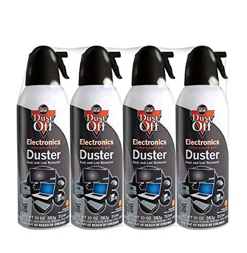 (Dust-Off Disposable Compressed Gas Duster, 10 oz Cans, 4)