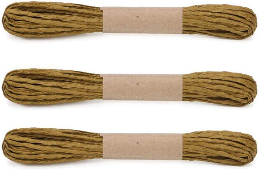 30M 2mm Thickness,32 Yards Raffia Stripes Paper String,Twisted Paper Craft String//Cord//Rope for DIY Making Twisted Paper Craft String//Cord//Rope