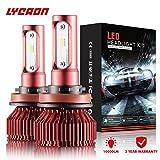 9006 headlight bulb 100w - LYCAON LED Headlight Bulbs Conversion Kit Super Spotlight Adjustable-Beam Bulbs 100W 10,000LM 6000K Cool White-3 Years Warranty Best Gift for Car (H11(H8, H9))