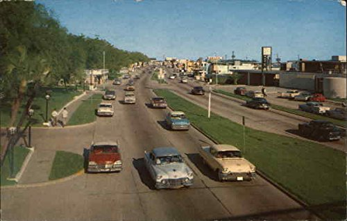 Us Highway 90  Mississippi Gulf Coast Original Vintage Postcard