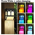 Solar Powered Color Changing Mount Night Light Outdoor Landscape Garden Yard Warm White