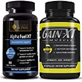Alpha Fuel Testosterone Booster + GainXT Preworkout Supplement (NO2) | Boost Stamina, Fat Loss & Muscle Gain | Sharper Mental Focus & Sex Drive| Increased Blood Flow, Pumps & Faster Results