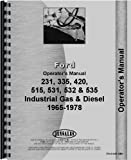 Ford 231 Industrial Tractor Operators Manual (1975-1978) (Industrial)