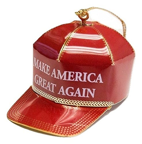 Trump Make America Great Again Red Cap Collectible Ornament - Finished in 24 karat gold
