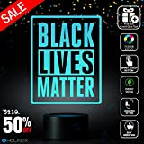 Black Lives Matter Lamp, Best Christmas Gift, Decoration lamp, 7 Color Mode, Awesome gifts (MT223)
