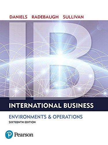 International Business (16th Edition) by Pearson