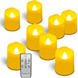 Homemory 9PCS Flameless Candles with Remote and Timer - Votive Tealight Candles - LED Tea Lights - Unscented Outdoor Flickering Candles - Battery Operated Candles