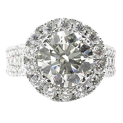 Fxbar Elegant Rings for Women,Shine Charm White Cubic Zirconia Wedding Band Jewelry Couple Anniversary Birthday Present Ring - Elegant Diamond Enhancer