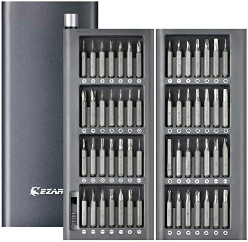 [スポンサー プロダクト]EZARC 精密ドライバーセット 57in1 多機能修理キット マグネット吸着収納 磁石付き 特殊ドライバー 分解 DIY作業 電子製品/カメラ/時計/メガネ/スマホ/iPhone/PC/Mac/iPad/PS4など適用