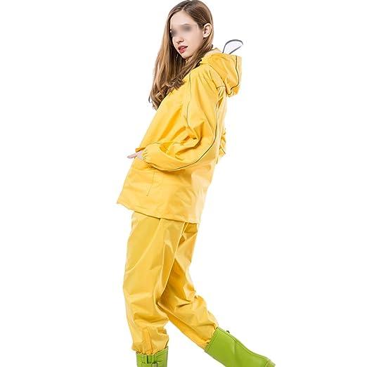 RFJJAL Impermeable/Traje de Lluvia Traje de Pantalones ...