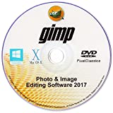 GIMP 2017 Photo Editor Premium Professional Image Editing Software for PC Windows 10 8.1 8 7 Vista XP, Mac OS X & Linux - Full Program & No Monthly Subscription!