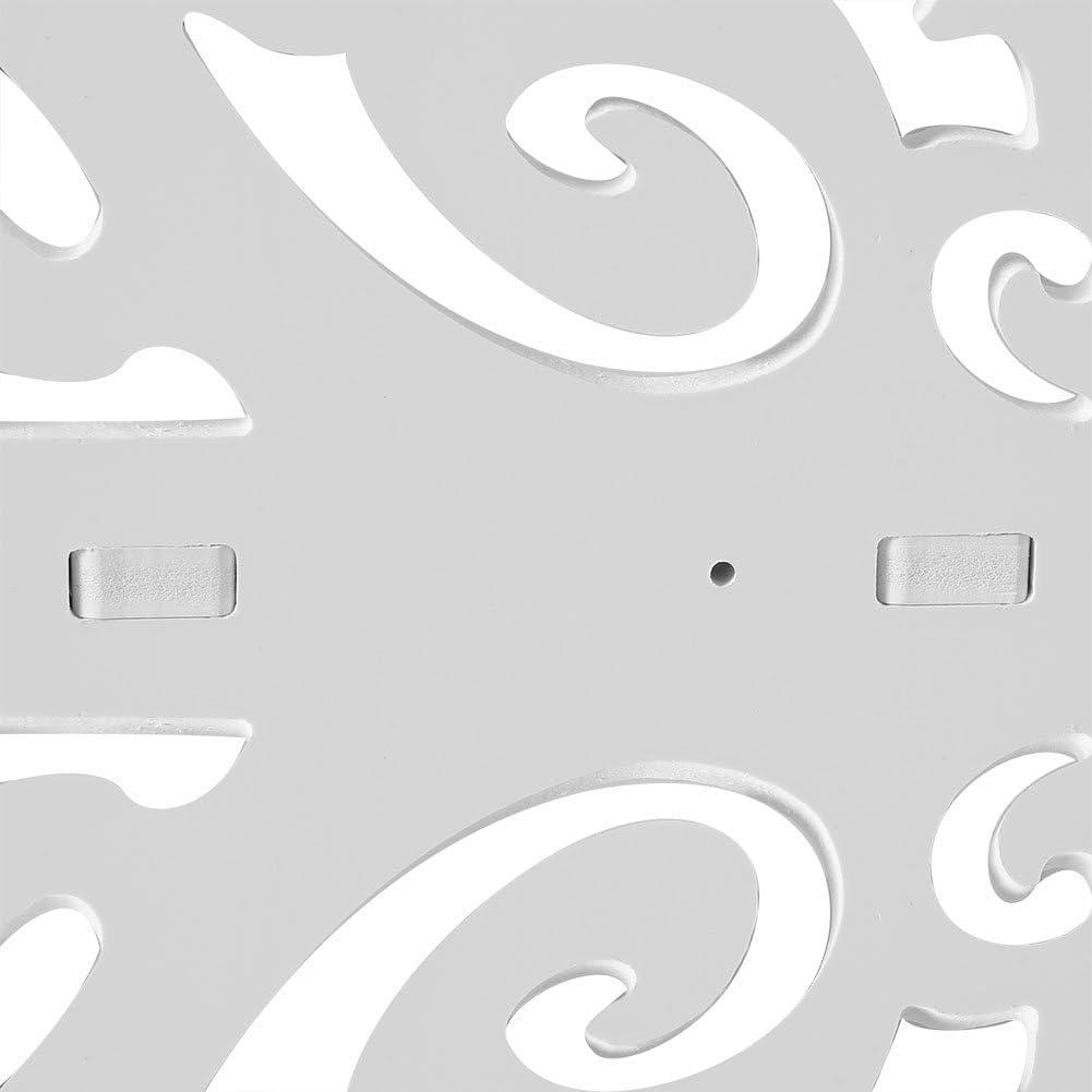 Zerone Estanter/ía esquinera de 4 Niveles estanter/ía de Esquina Tallada para Libros