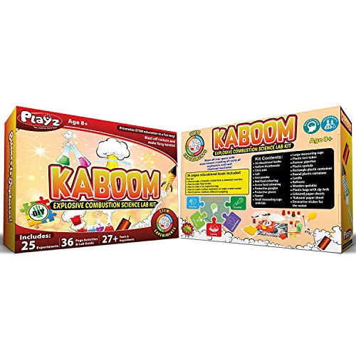 Playz Kaboom! Explosive Combustion Science Lab Kit - 25+ STEM Experiments - DIY Make Your Own Rockets, Helium Balloons, Fizzy Bombs, Color Explosions and More with Fun Chemical Reactions! by Playz (Image #8)