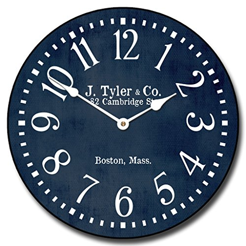The Big Clock Store Navy Blue Wall Clock, Available in 8 siz