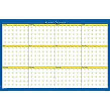 House of Doolittle Laminated Wipe Off 12 Month Non-Dated Wall Planner Reversible 36 x 24 Inch (HOD642)