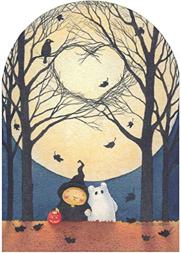 Branch Heart and Moon Mary C Melcher Cute Halloween Card - Recycled Paper Greetings