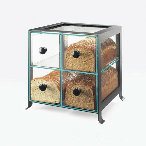 Calmil 1586-13 Soho Bread Case, 13'' Length x 14'' Width x 14.25'' Height, Black